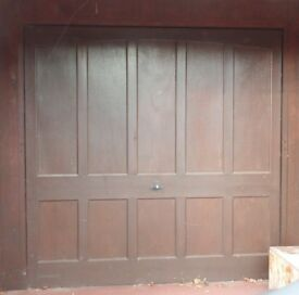 Garage Door and Fittings. Wooden - Up and Over Type