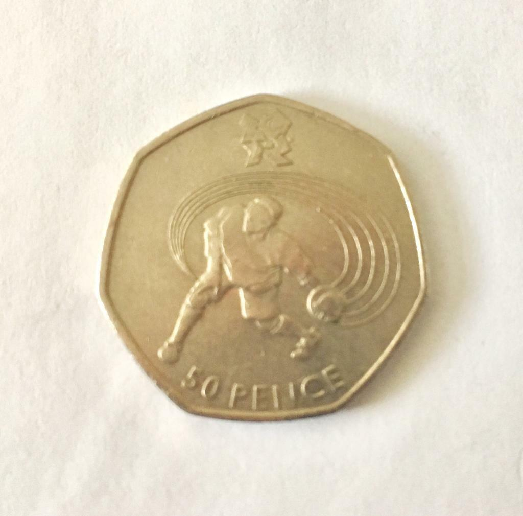 Olympic Fifty Pence Piece: Goalball (SCARCE)