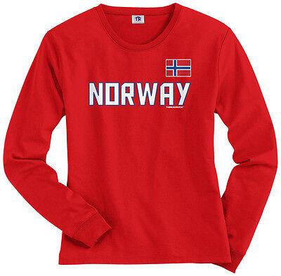 National Team Long Sleeve Tee - Threadrock Women's Norway National Team Long Sleeve T-shirt Norwegian Pride