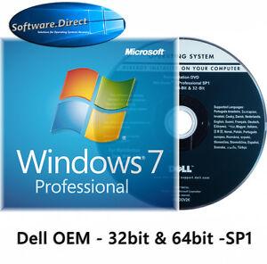 Windows 7 Professional 64bit - 32bit Full Version OEM DVD and Product Key