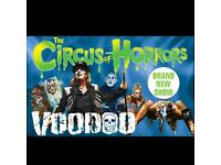 Circus of horrors voodoo X3 tickers