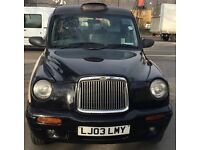 London taxi tx2 2003/03 plate for sale - London plated until December 2017 - black cab