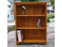Solid Pine Bookcase With Adjustable Shelves