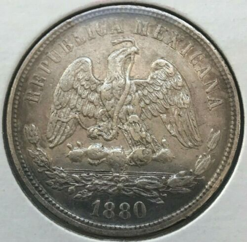 1880 Ho A Mexico 50 Centavos - Hermosillo Mint - Scarce and Great Condition!