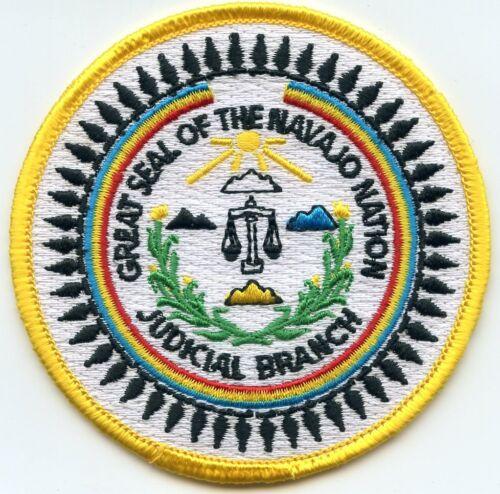 NAVAJO INDIAN NATION TRIBE ARIZONA AZ small TRIBAL JUDICIAL BRANCH police PATCH