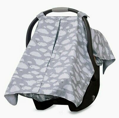 Go By Goldbug Infant Baby Car Seat Canopy Cover - Gray Cloud