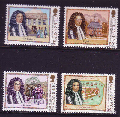 Guernsey 1987 350th Birth Anniversary of Sir Edmond Andros SG 400/03  MNH