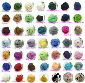 Needlefelting-Wool-Corriedale-Top-Roving-Dyed-Spinning-Wet-Felting-Fiber-New