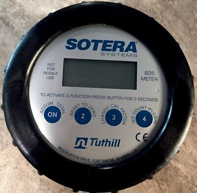 Sotera Systems Tuthill Flow Meter 825 850 2-20 Gpm New.