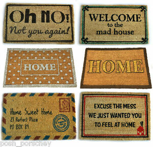 Quality large heavy duty welcome coir rubber outside for Welcome home front door mats