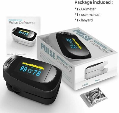 Fda Heart Rate Finger Pulse Oximeter Blood Oxygen Meter Spo2 Monitor Saturation