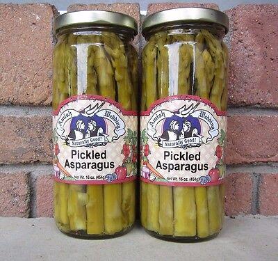 Amish Wedding Foods  Pickled  Asparagus 2 - 16 oz Jars