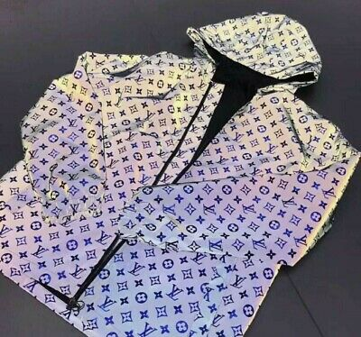 Mens Louis Vuitton Reflective Jacket Size MNot, gucci, versace, fendi ect