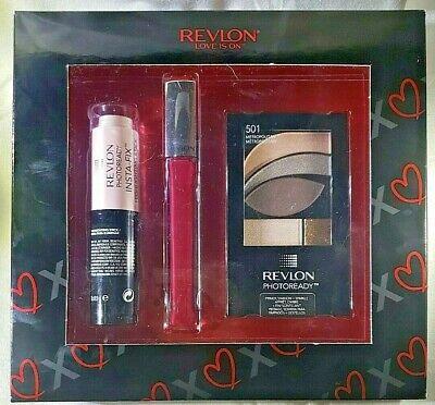 Revlon PhotoReady Love Is On Gift Set Eye Shadow Lip Gloss Highlighter Makeup