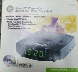 GE stereo CD Player With AM/FM Dual Wake Clock Radio  7-4897 Bar Code 0443190031