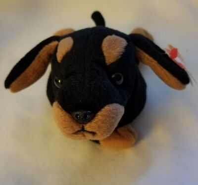 Ty Beanie Baby Doby The Doberman 1993 Retired