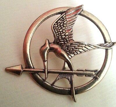 Hunger Games Badge Mocking Jay Bird Pin Bird Brooch Bronze Effect UK STORE](Mocking Jay Pin)