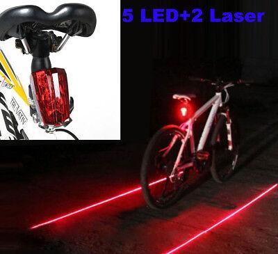LED Bike Light Bicycle Rear Tail Flashing Safety Warning Night Laser Bulb Lamp