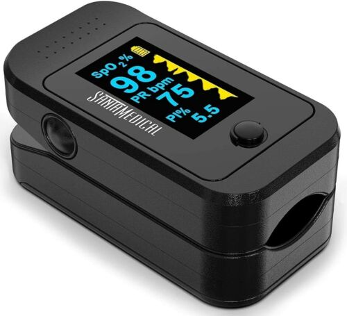 Dual Color OLED Pulse Oximeter Fingertip, Blood Oxygen Saturation Monitor (SpO2)