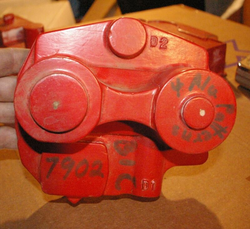 Valve Cover Pattern Industrial Foundry Casting Mold Geometric Decor #7902