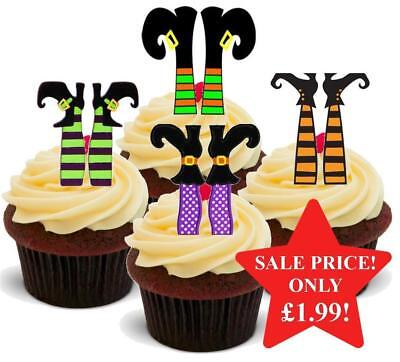 Halloween Witches Feet Mix Stand Up Premium Card Cake Toppers](Halloween Mix Up)