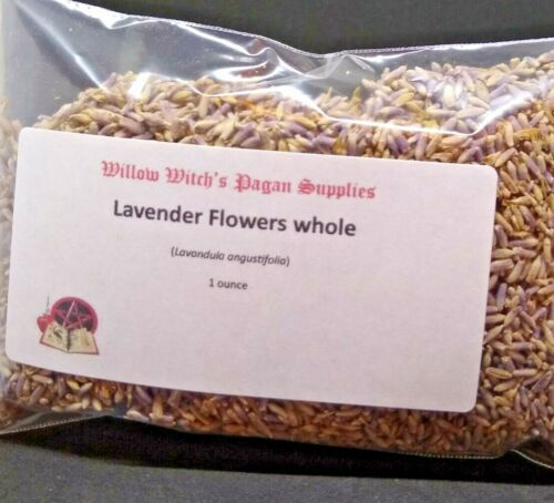 Lavender Flowers Whole 1 ounce Wicca Hoodoo Voodoo Witchcraft Pagan