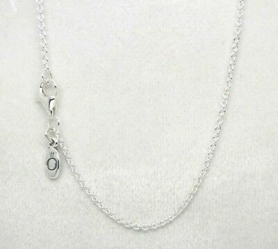 Authentic Pandora #590412-45 Chain Necklace Sterling Silver Adjustable 17in