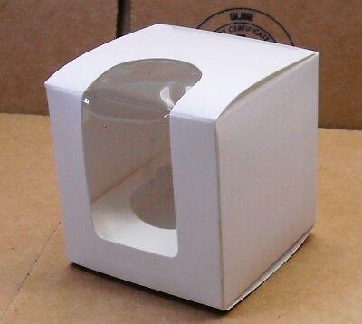 Mini Cupcake Box (50 - Mini Cupcake Boxes - Plain White with Viewing Window &)