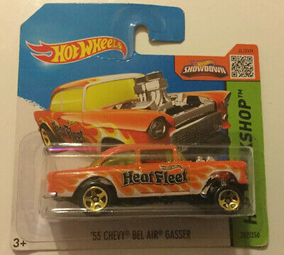 Hot wheels Flames 2017 55 Chevy Bel Air Gasser Heatfleet