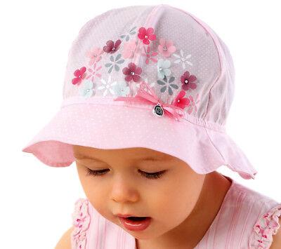 Marika Mädchen Sommermütze Hut Mütze Kindermütze Festlich Schleife Baumwolle