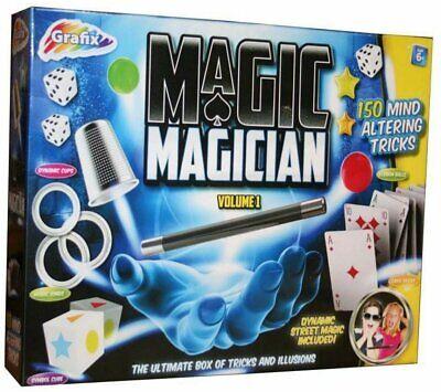 Children Magic Set 150 Tricks Kids Magician Illusions Trick Kit and Accessories