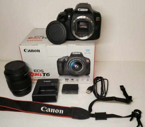 Canon EOS Rebel T6 Digital SLR Camera w/ EF-S 18-55mm IS II Lens Kit