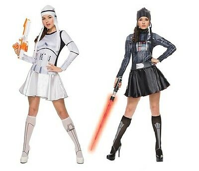 NWT SEXY STAR WARS ADULT DARK SIDE COSTUMES  WOMEN'S DARTH VADER / STORM TROOPER