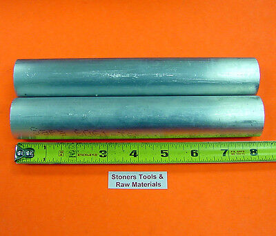 2 Pieces 1-58 Aluminum 6061 Round Rod Solid Bar 8 Long New Lathe Stock 1.625