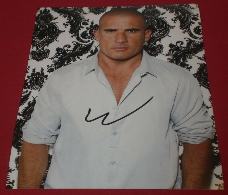 DOMINIC PURCELL SIGNED SERIOUS MUSCULAR HUNK PHOTO AUTOGRAPH COA PRISON BREAK