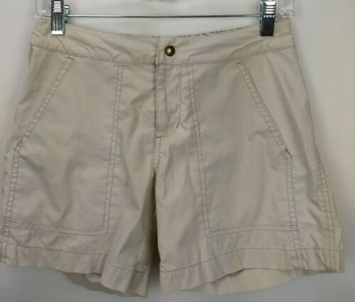 """Kuhl Womens Kuhldry Stretch Hiking Shorts Size XS Beige Outdoor Camping Guide 5"""""""