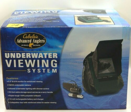 """NEW - CABELAS ADVANCED ANGLERS PRO SERIES UNDERWATER VIEWING SYSTEM 5.5"""" MONITOR"""