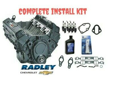 NEW OEM GM ENGINE 350 CRATE 195HP 12681429 10067353 w/ INSTALL KIT CHEVROLET ()