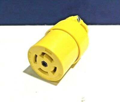 Leviton CA343 Closure Cover for Pin and Sleeve Receptacles and Connectors Gray 4-Wire 3 Watertight 30 Amp IP67