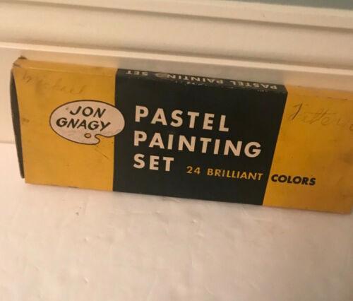 Vintage Jon Gnagy Pastel Painting Set with 24 Colors