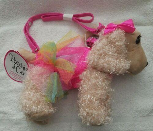 Poochie & Co Sadie Cocker Spaniel Purse Pink Bows & Collar & Rainbow To-to