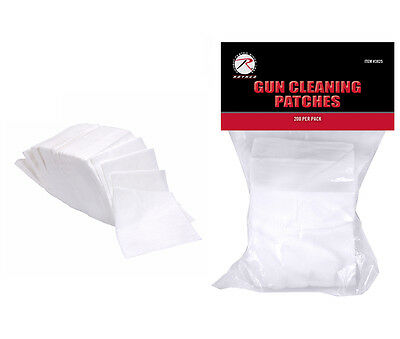 200 Cotton Gun Cleaning Patches Rothco 3