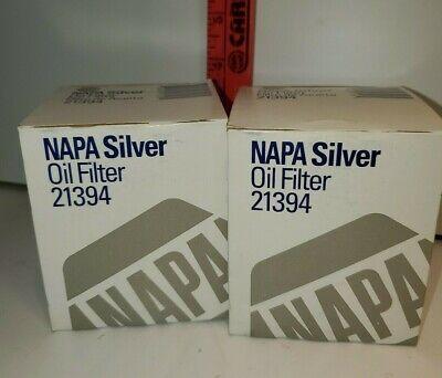 2 NAPA Silver Oil Filters #21394
