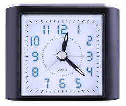 Non-Ticking Analog Alarm Clock with LED Lighted Numbers,Snooze,Ascending Sound