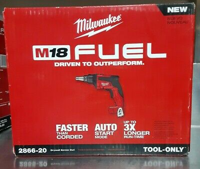Milwaukee 2866-20 M18 Fuel Brushless Drywall Screw Gun Tool Only