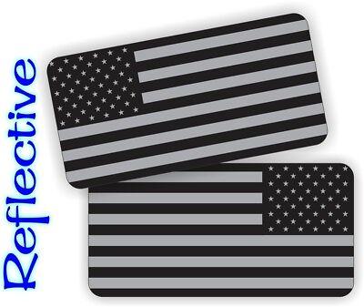 Black Ops Reflective American Flag Hard Hat Stickers Motorcycle Helmet Decals