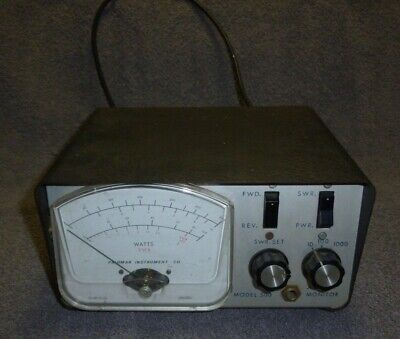 Palomar Instruments Co. Model 500 Vintage Electronics With Back Cable Volts