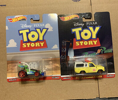 2019 Hot Wheels Premium Toy Story Pizza Planet Truck And Rc Car Lot Of 2 NEW Set