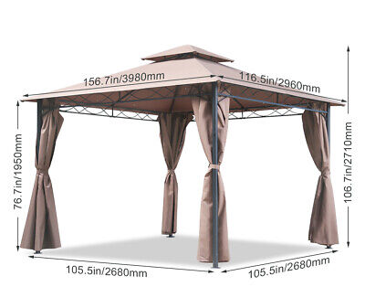 Canopy  tent Gazebo 10′ X 13′ Grill gazebo for Patios bbq Outdoor Patio Large Awnings & Canopies