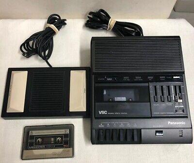 Panasonic Rr-830 Standard Cassette Transcriber W Rp-2692 2-pedal Foot Control
